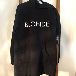 Oversize Blonde Sweatshirt Dress